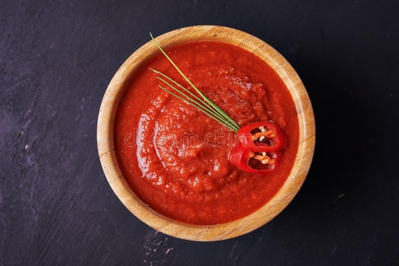 Salsa y chile de tomate imágenes de archivo libres de regalías
