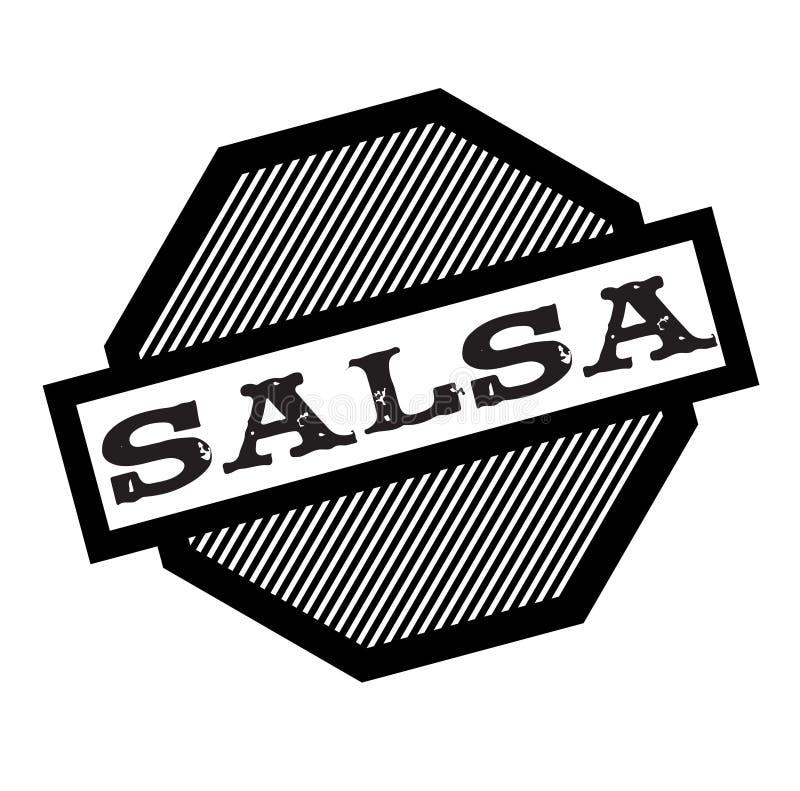 Salsa zwarte zegel royalty-vrije illustratie