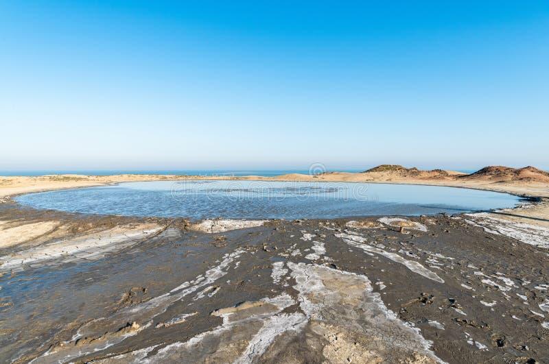 Salse mud pond in Gobustan, Azerbaijan. Salse volcanic mud pond in Gobustan, Azerbaijan stock photo
