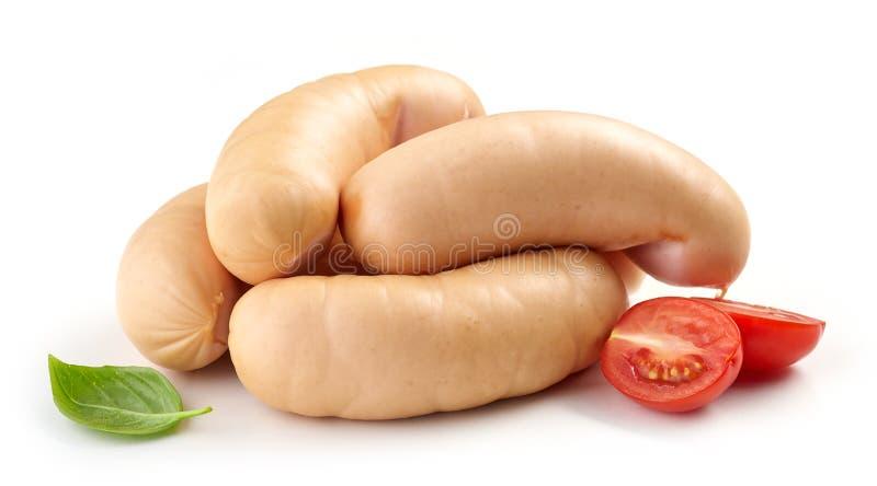 Salsicce di maiale fresche fotografie stock