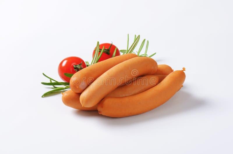 Salsicce viennesi fotografie stock