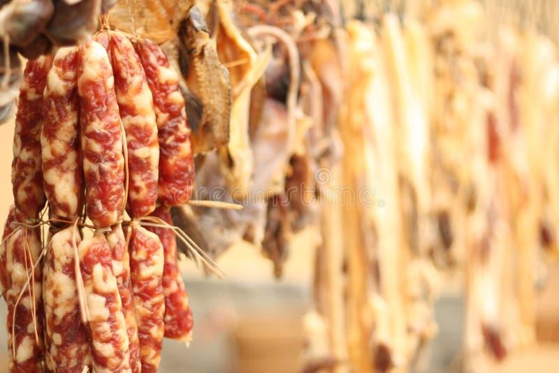 Salsiccia asciutta cinese fotografia stock libera da diritti