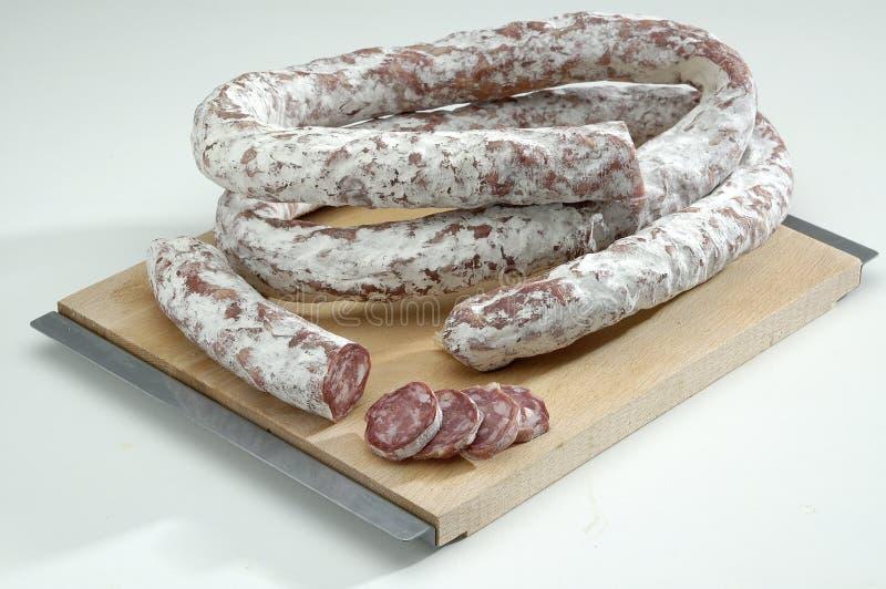 Salsiccia asciutta francese fotografie stock libere da diritti