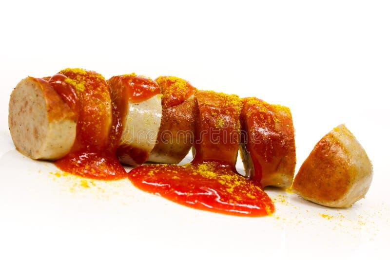 Salsiccia del curry fotografie stock