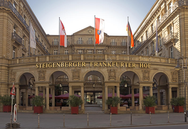 Salsiccia di Francoforte Hof di Steigenberger dell'hotel fotografia stock