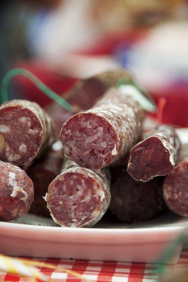 Salsiccia francese al servizio immagini stock