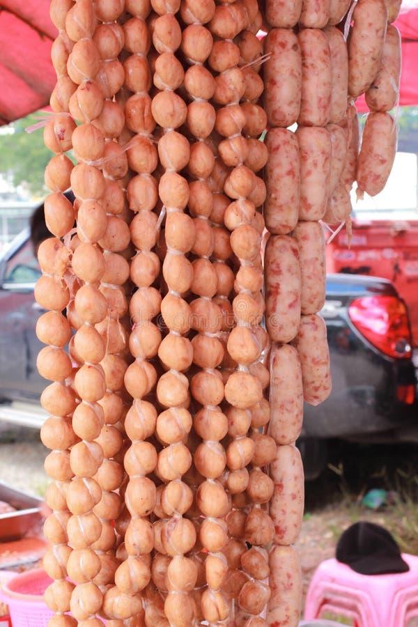 Salsiccia tailandese piccante fotografie stock