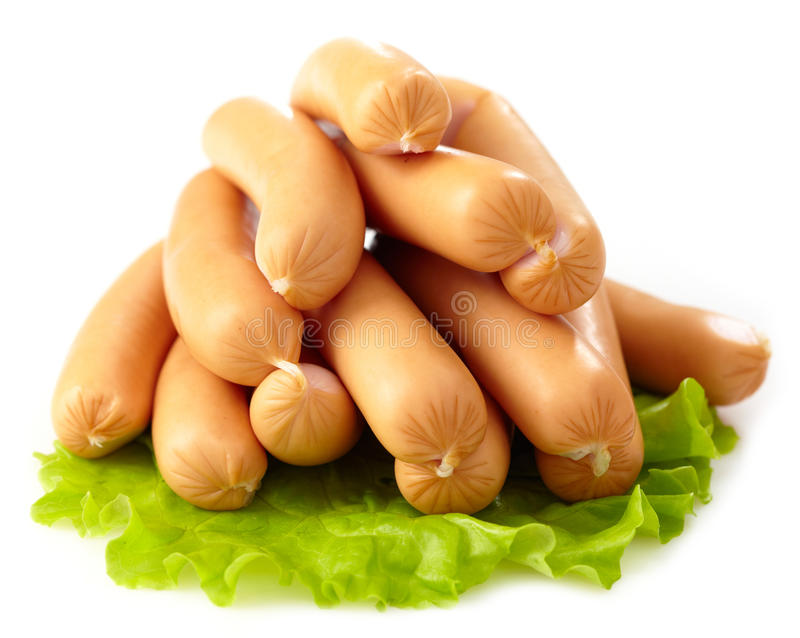 Salsiccie bollite fresche immagine stock