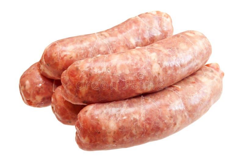 Salsiccie della carne cruda immagini stock libere da diritti