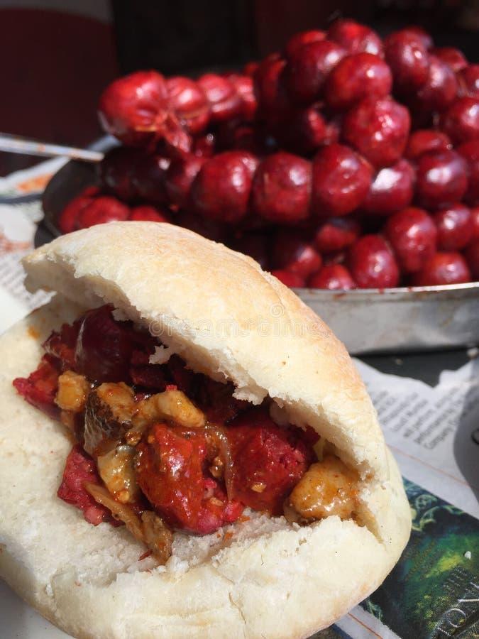 Salsiccie di Goa - choriso, cucina di Goa immagini stock