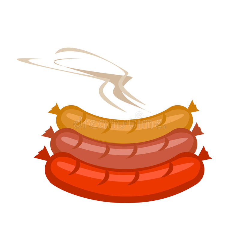 Download Salsiccie Di Vettore A Colori Illustrazione di Stock - Illustrazione di fresco, caldo: 55350423