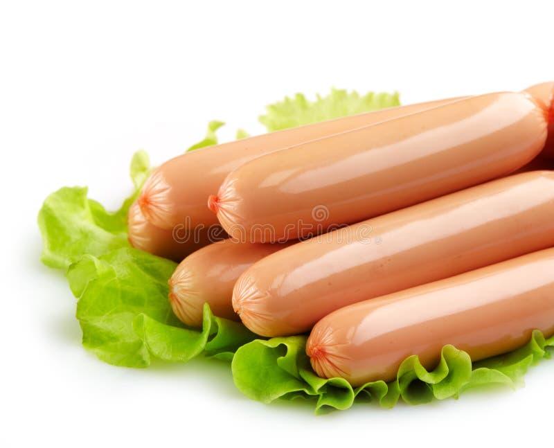 Salsiccie fresche fotografia stock