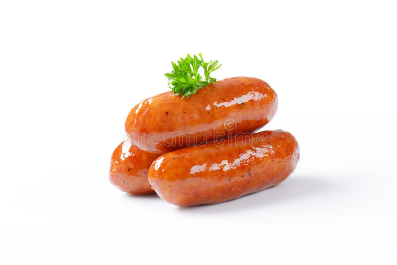 Download Salsiccie fritte fotografia stock. Immagine di bianco - 55362374