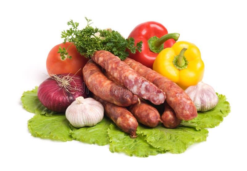 Salsiccie saporite immagine stock