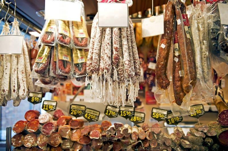 Salsiccie spagnole fotografie stock