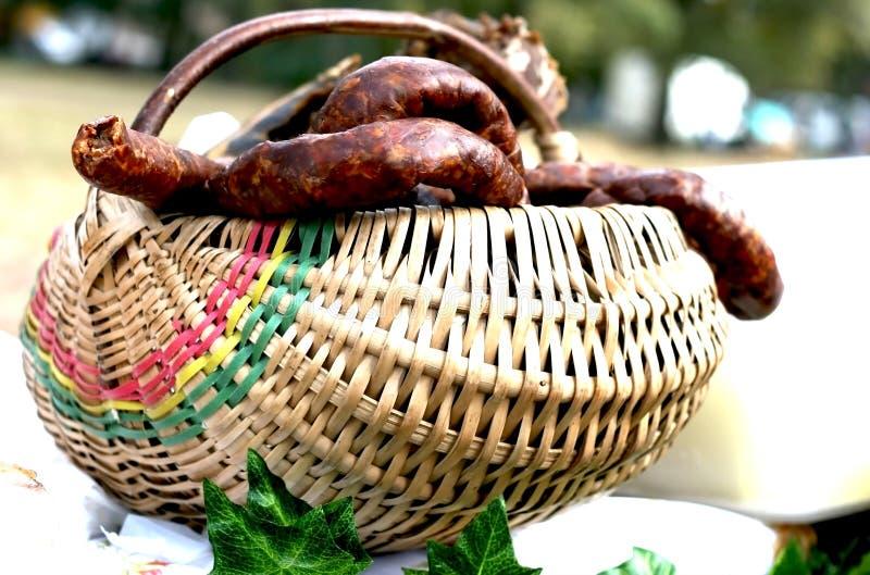 Salsiccie tradizionali fotografia stock