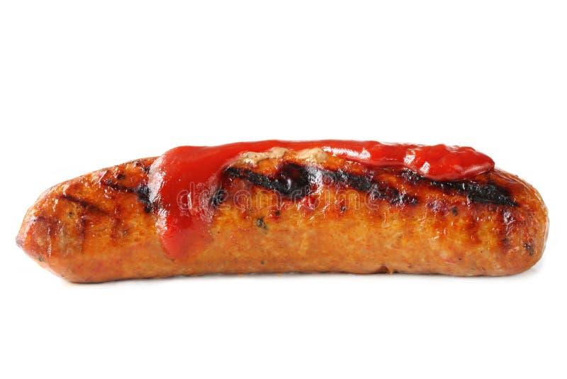 Salsicha com molho imagem de stock royalty free