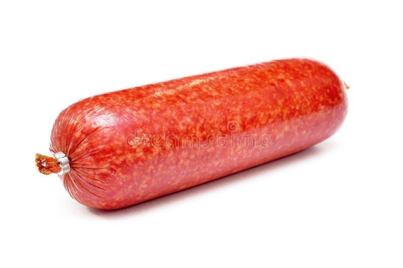 Salsicha cozinhada e fumado imagem de stock