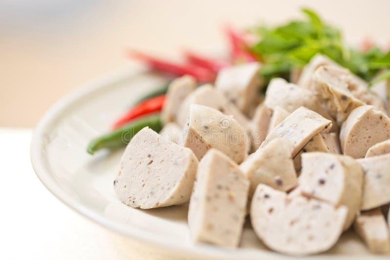Salsicha de carne de porco fotografia de stock