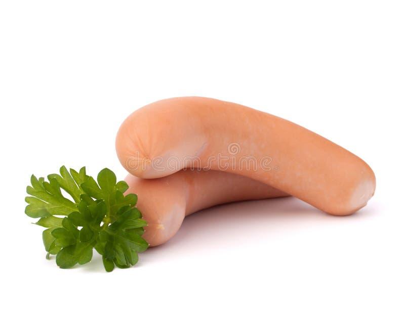 Salsicha de Frankfurter imagens de stock