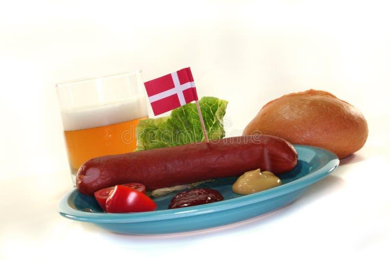 Salsicha dinamarquesa foto de stock