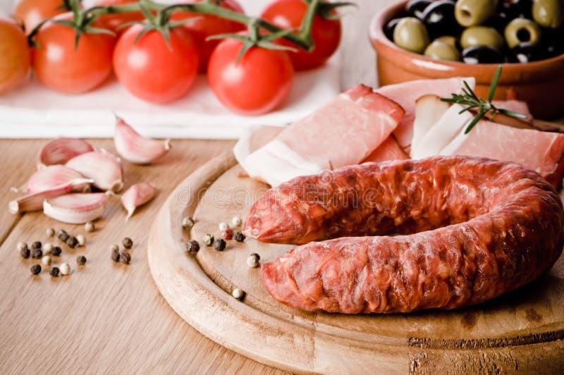 Salsicha do chorizo imagens de stock