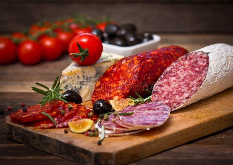 Salsicha do salame imagem de stock