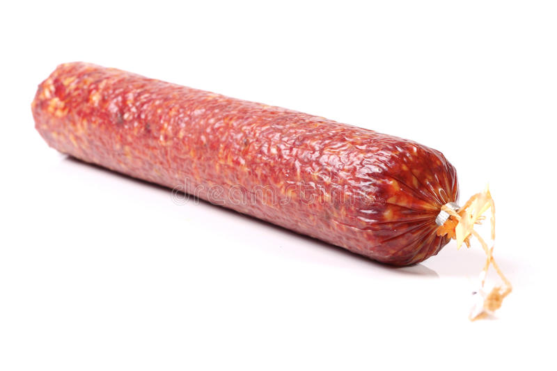 Salsicha do Salami foto de stock