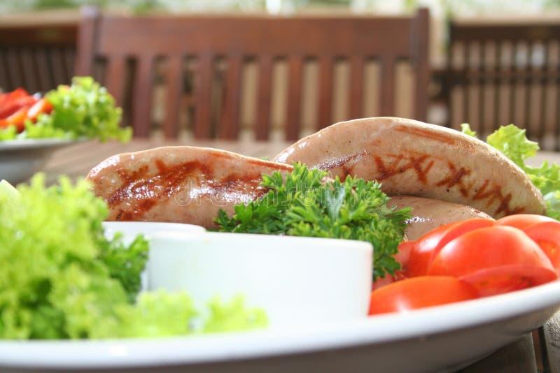 Salsicha, frankfurter fotografia de stock