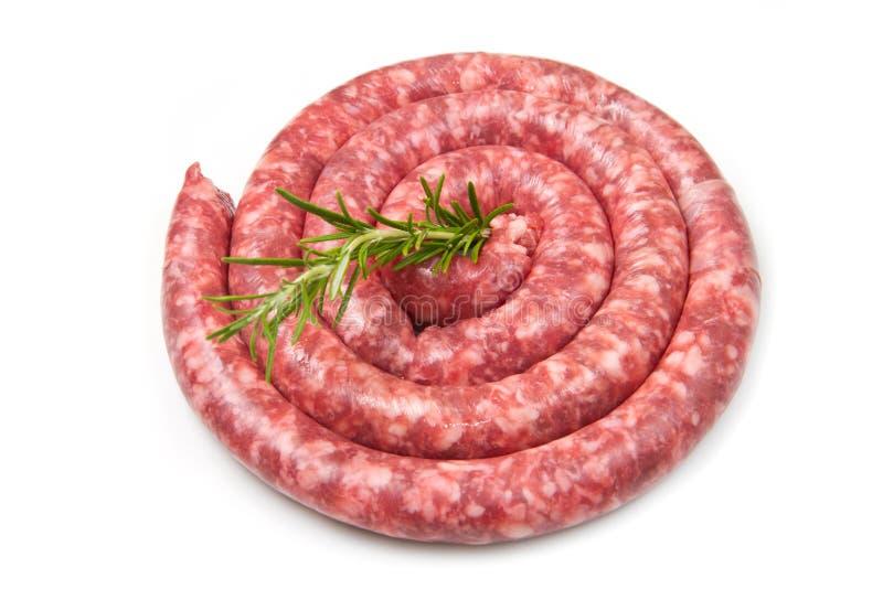 Salsicha fresca fotografia de stock