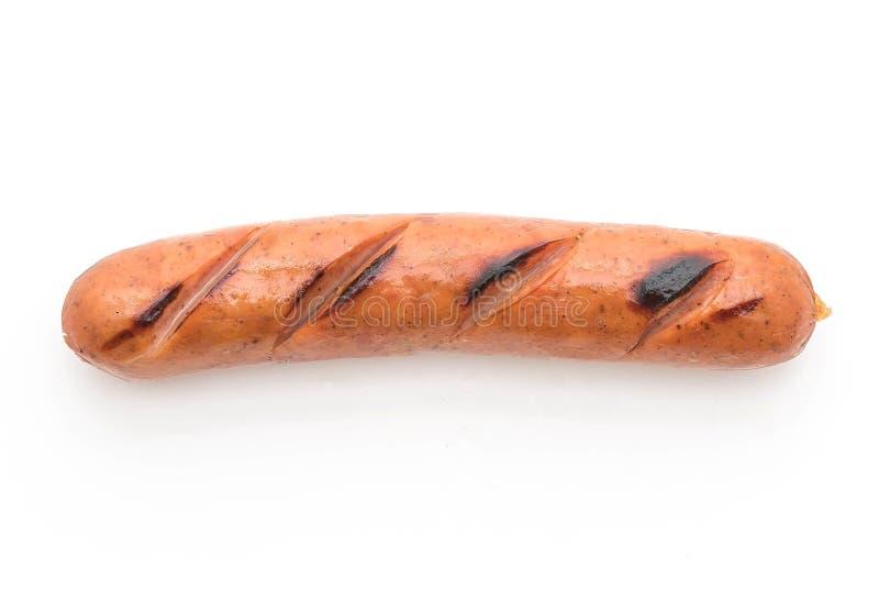 Salsicha grelhada isolada imagem de stock royalty free