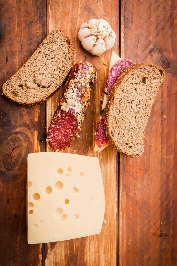 Salsicha para o café da manhã foto de stock royalty free