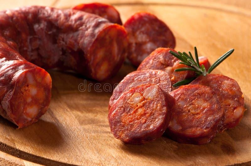Salsicha rústica do chorizo imagens de stock