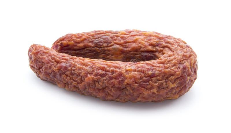Salsicha secada fotografia de stock royalty free