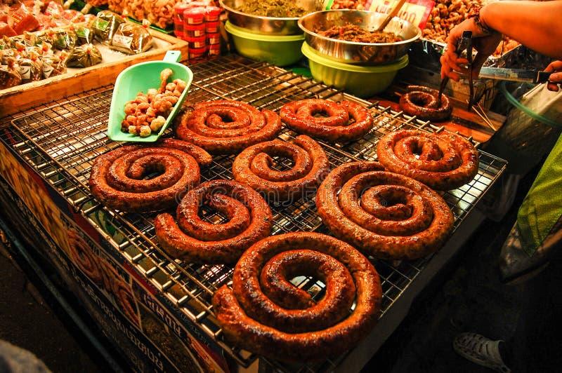 Salsicha tailandesa fotografia de stock