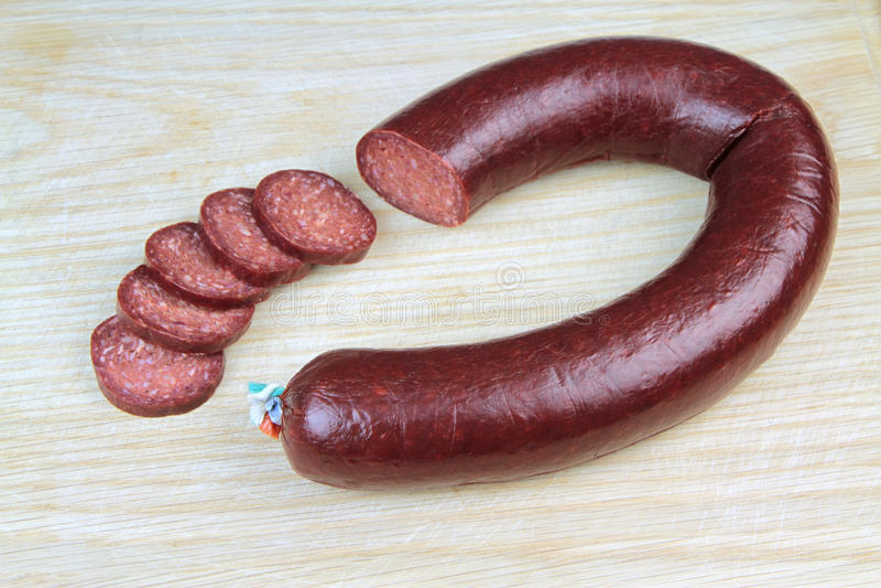 Salsicha turca tradicional, fim acima da imagem fotos de stock royalty free