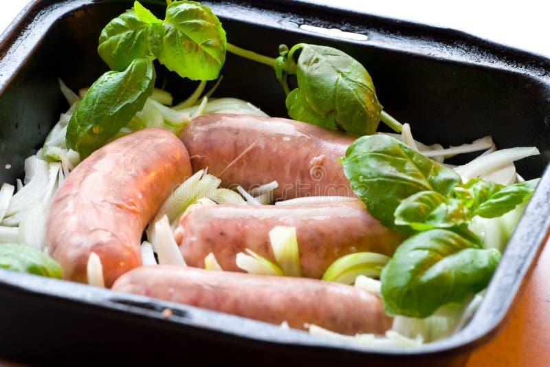 Salsichas imagem de stock