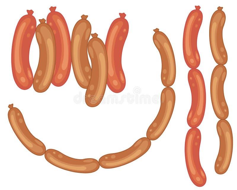 Salsichas ilustração stock