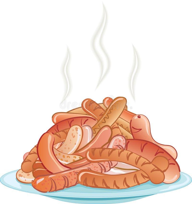 Salsichas ilustração do vetor
