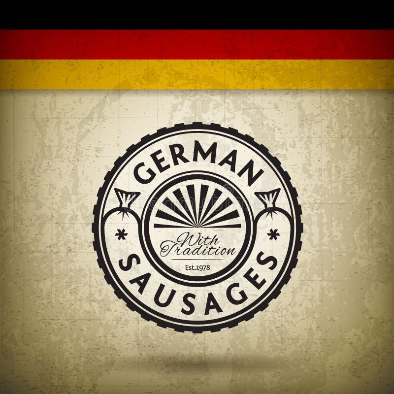Salsichas alemãs ilustração stock