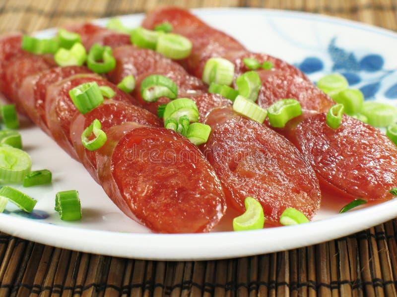 Salsichas chinesas fotos de stock