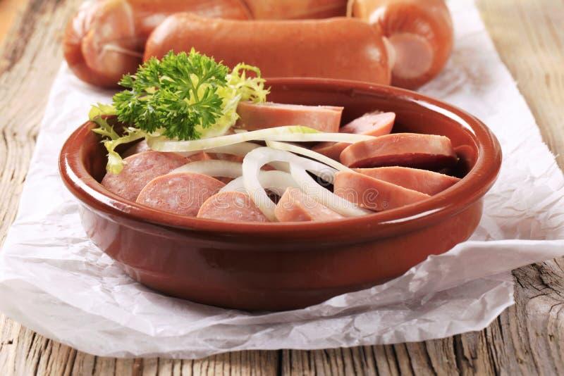 Download Salsichas E Cebola Cortadas Foto de Stock - Imagem de carne, snack: 29838180