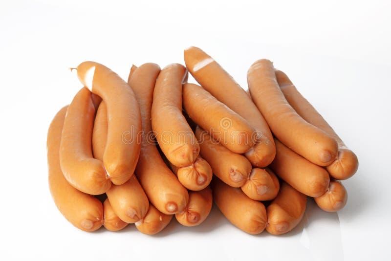 Salsichas de salsicha tipo frankfurter fotografia de stock royalty free