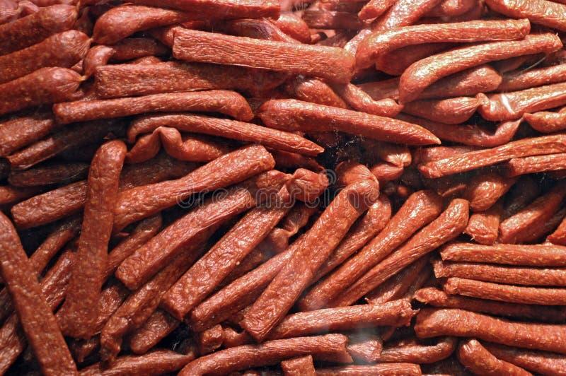 Salsichas frescas fotos de stock
