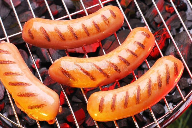 Salsichas grelhadas foto de stock