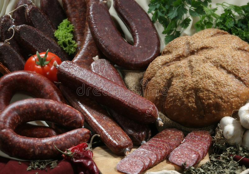 Salsichas lisas imagens de stock royalty free