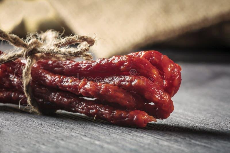 Salsichas secadas imagem de stock