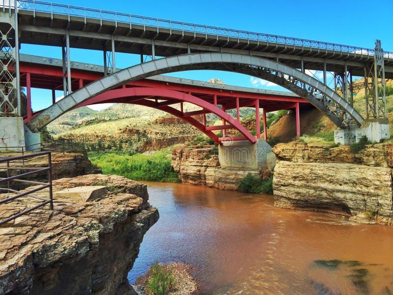 Salt河峡谷桥梁 免版税图库摄影