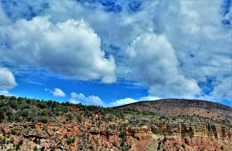 Salt河峡谷自然保护区, Tonto国家森林,希拉县,亚利桑那,美国 免版税库存照片