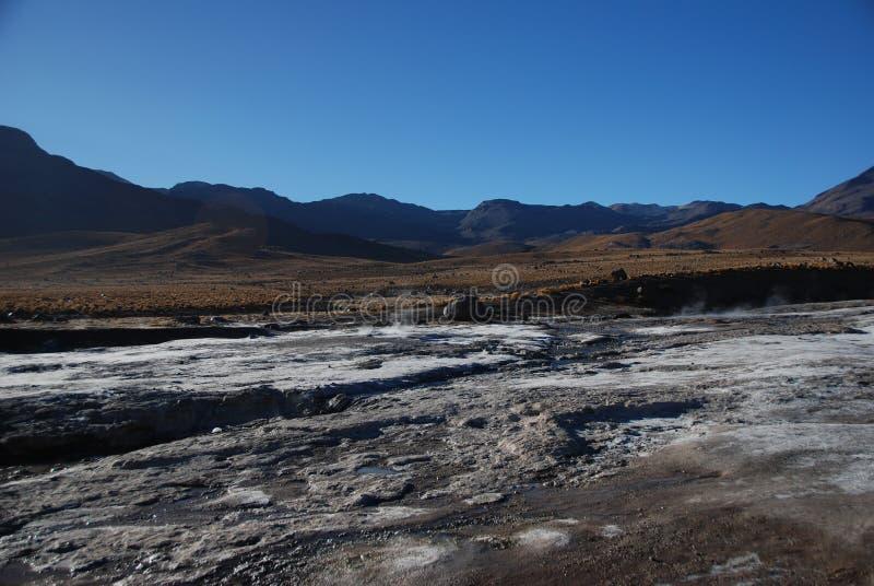 Salt in Atacama desert stock images